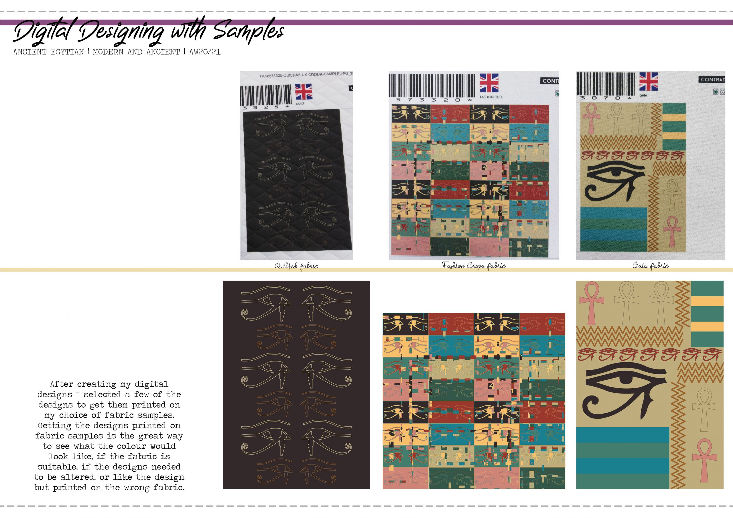 Ancient Egyptian Digital Designing with Samples Image