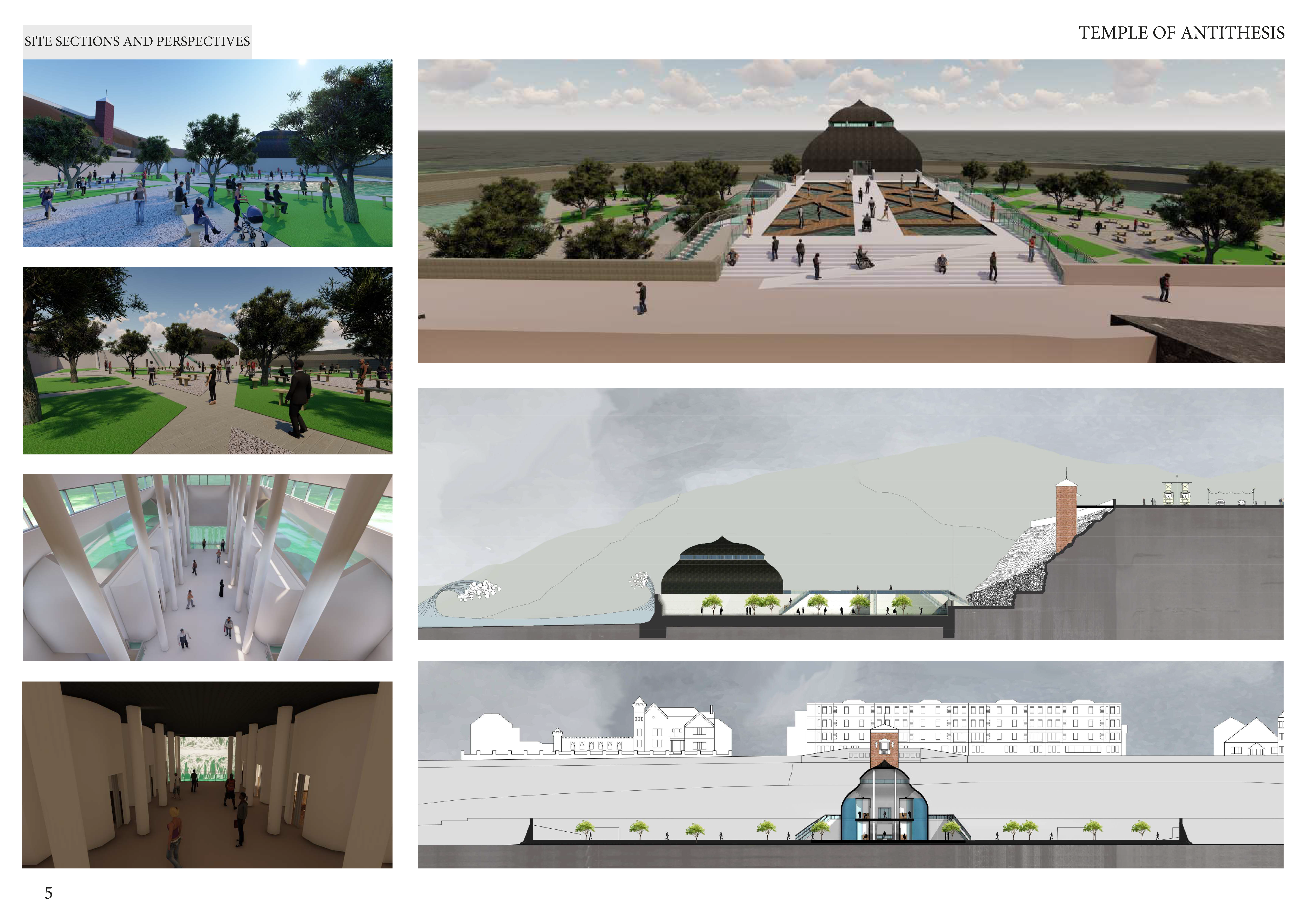 Site sections and Perspectives Image