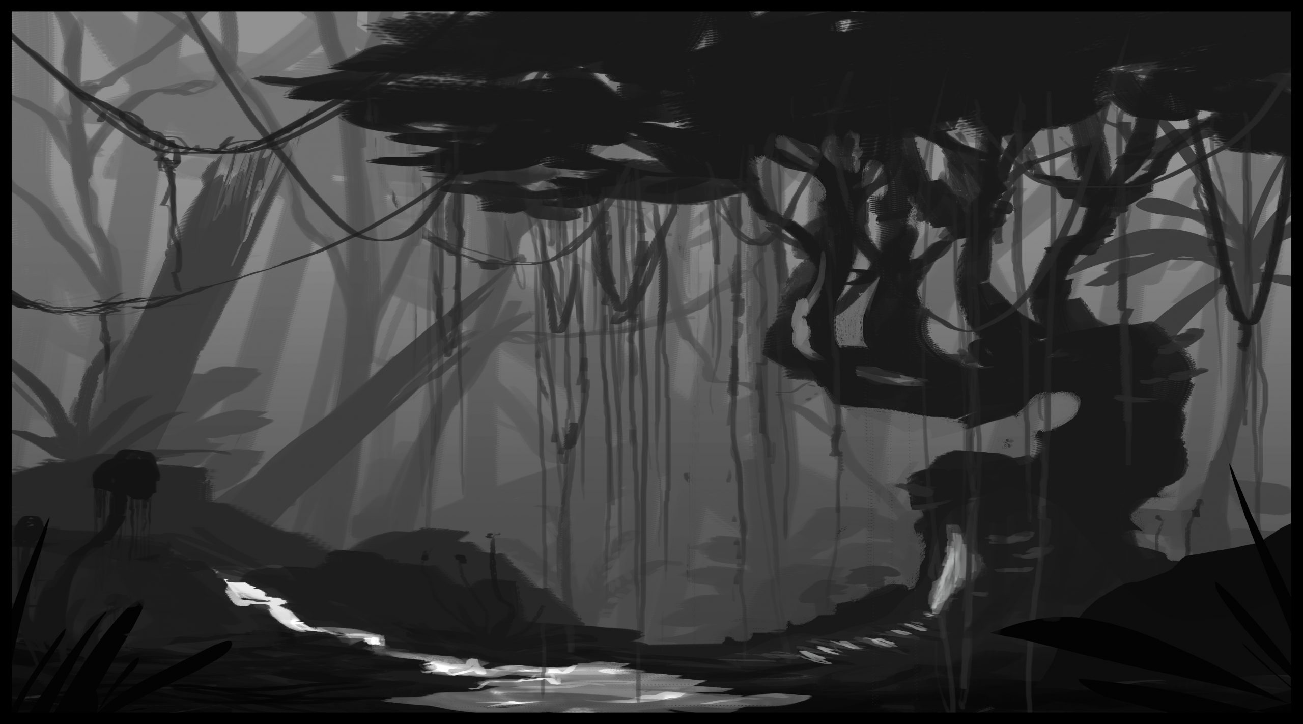Alien Jungle Project - Graphic Sketching Image