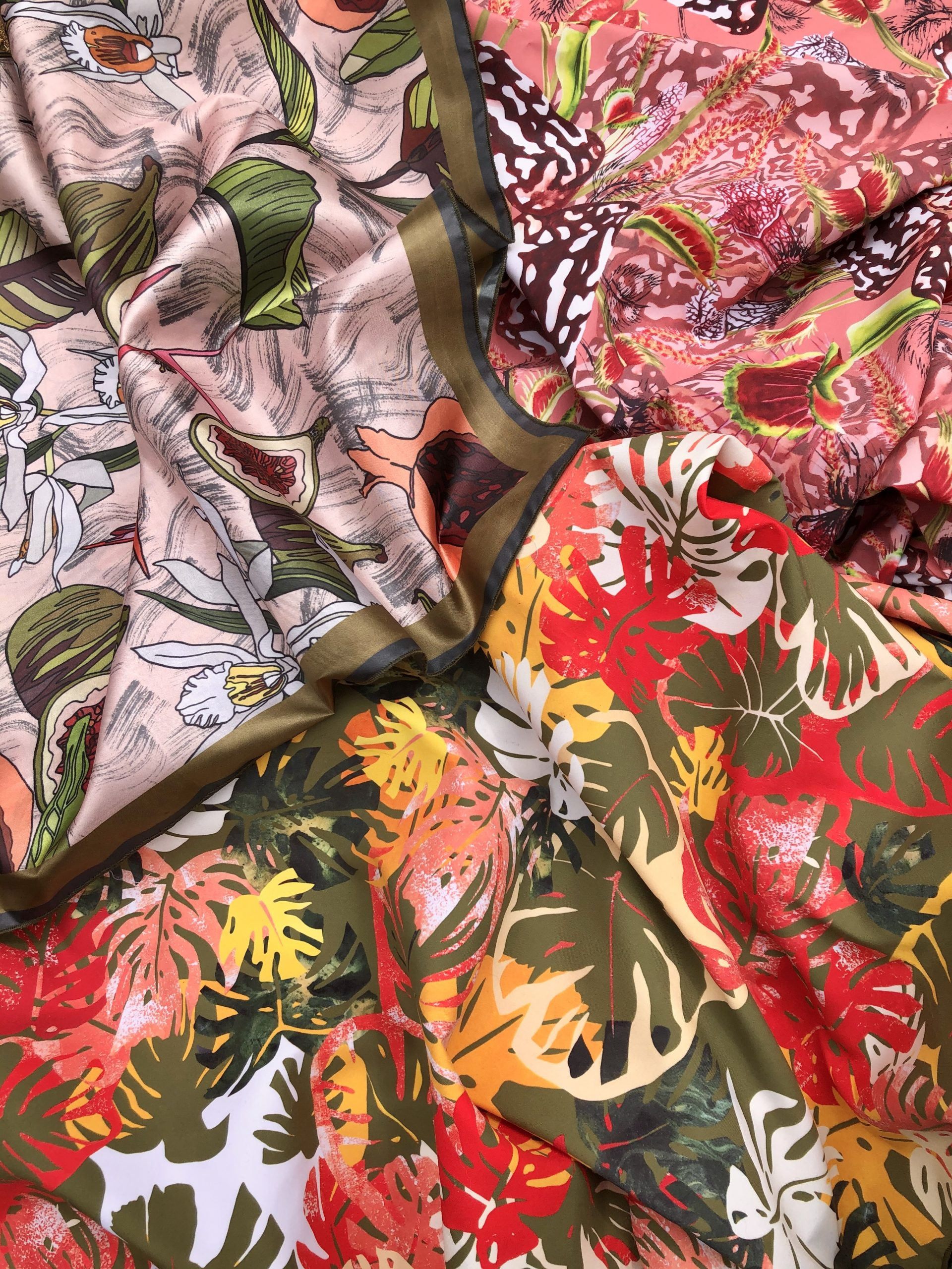 Selection of fabrics from my final collection Image