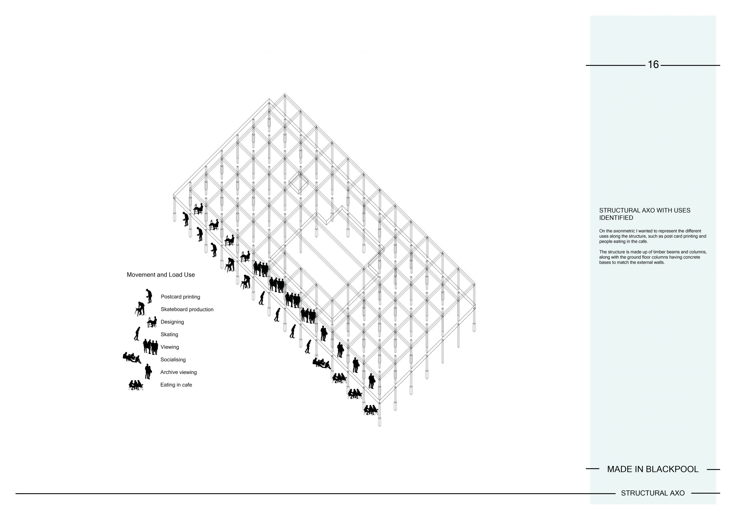16 Structural Axonometric Image