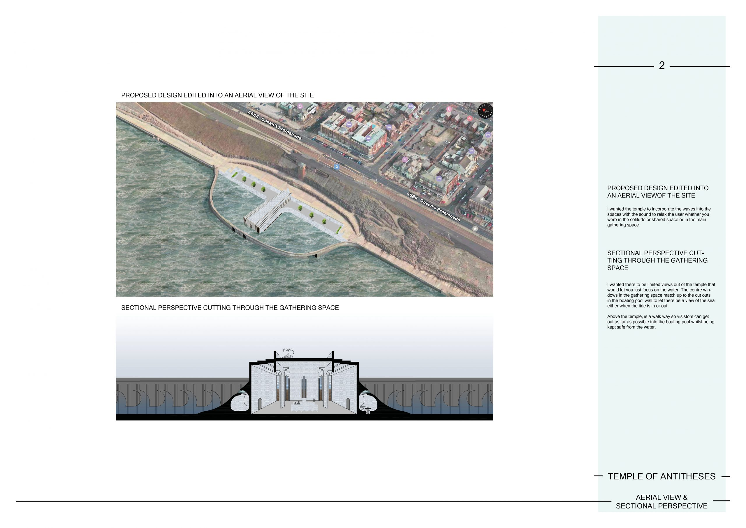2 Aerial View & Sectional Perspective Image