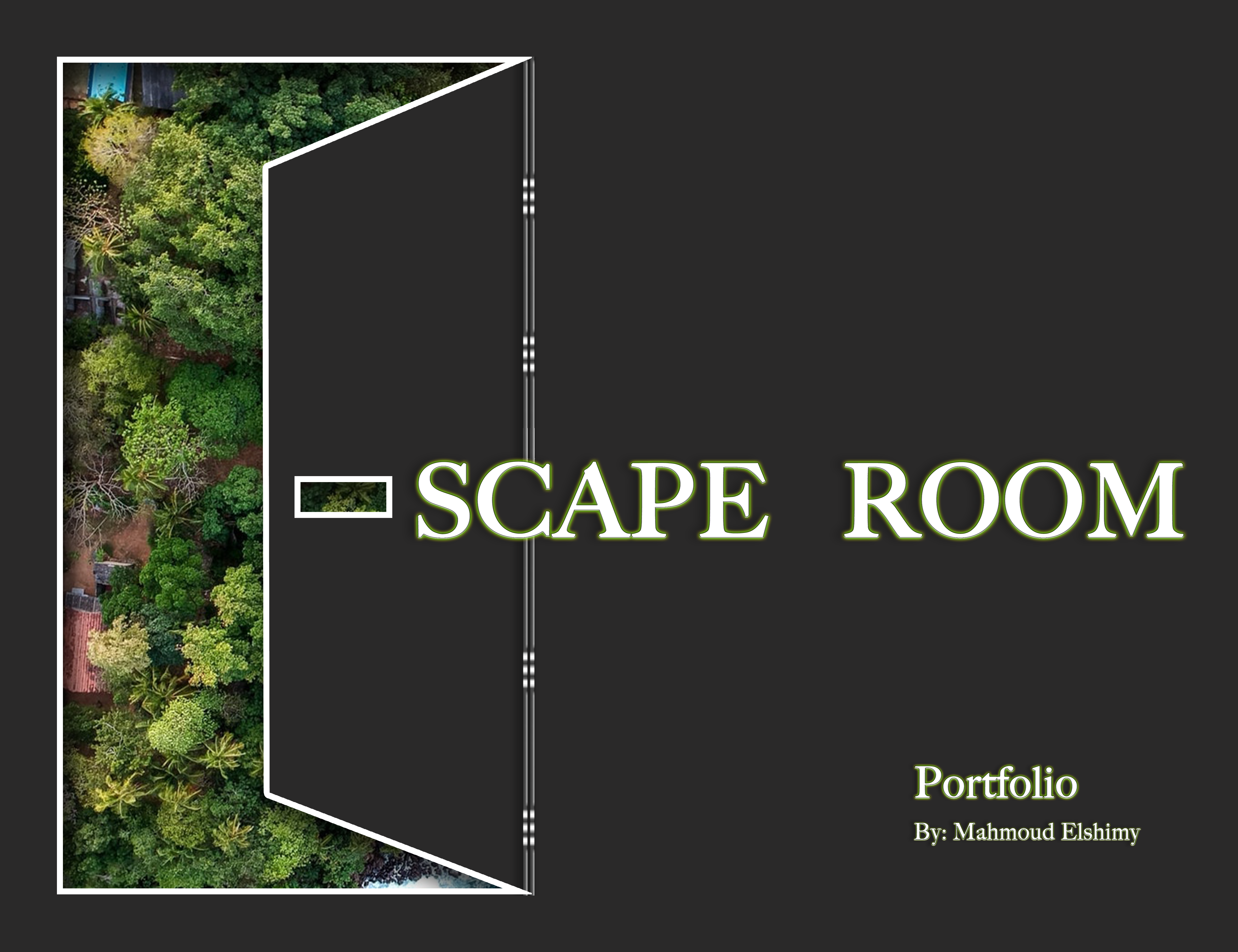 Portfolio Cover showing how escaping to nature would change your life especially if suffering from stress and anxiety