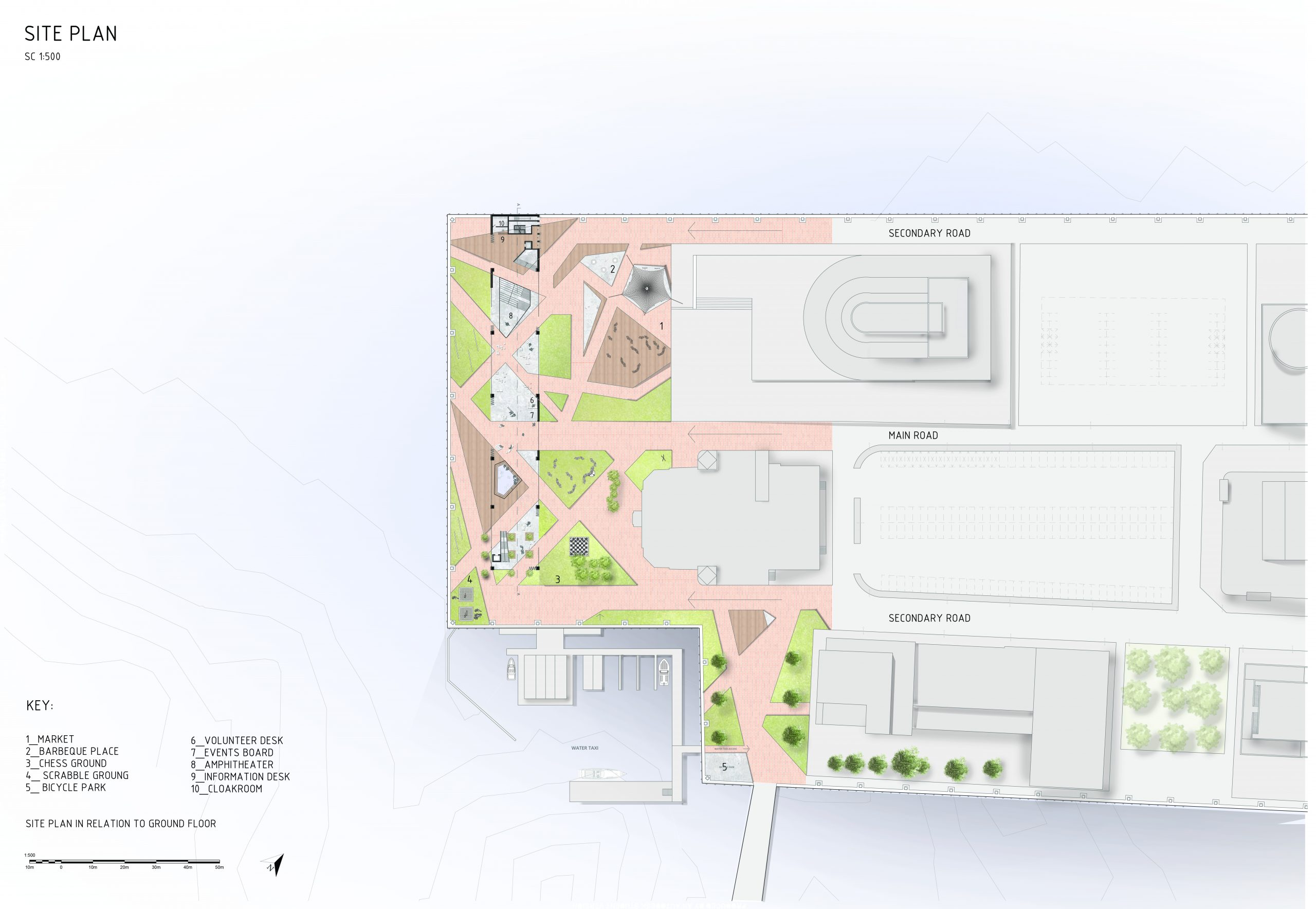 Site plan in relation to Ground floor Image