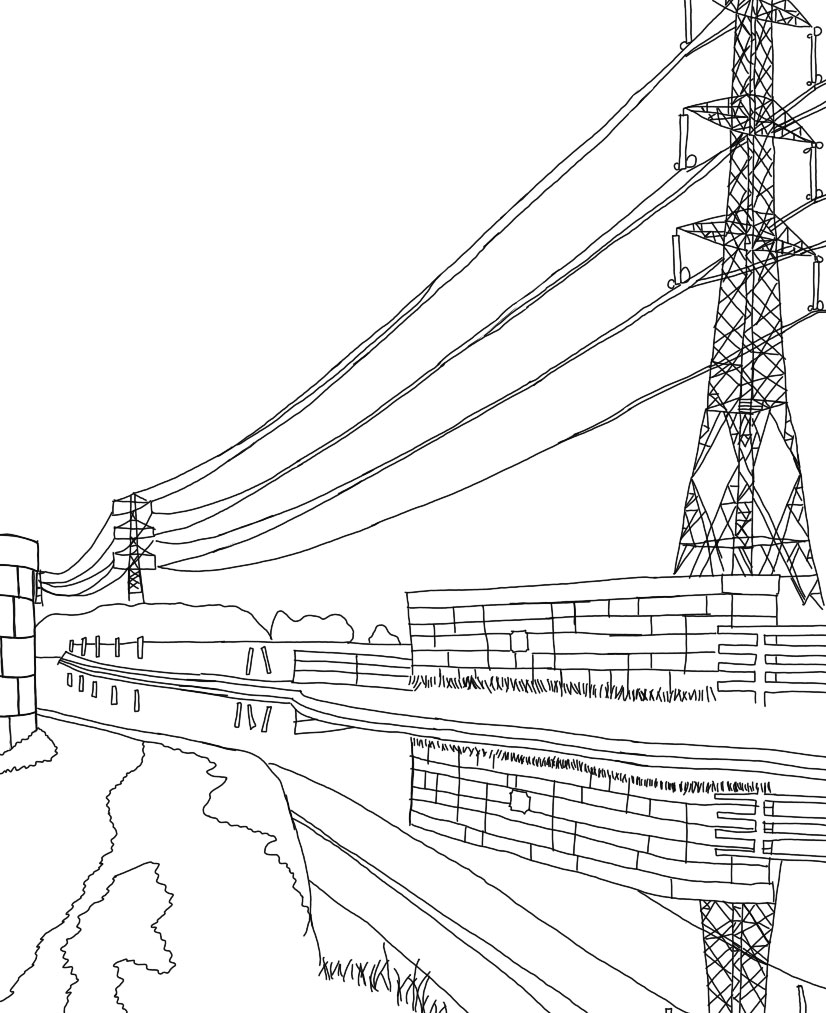 Lancaster Canal, March 2021 (outline) Image