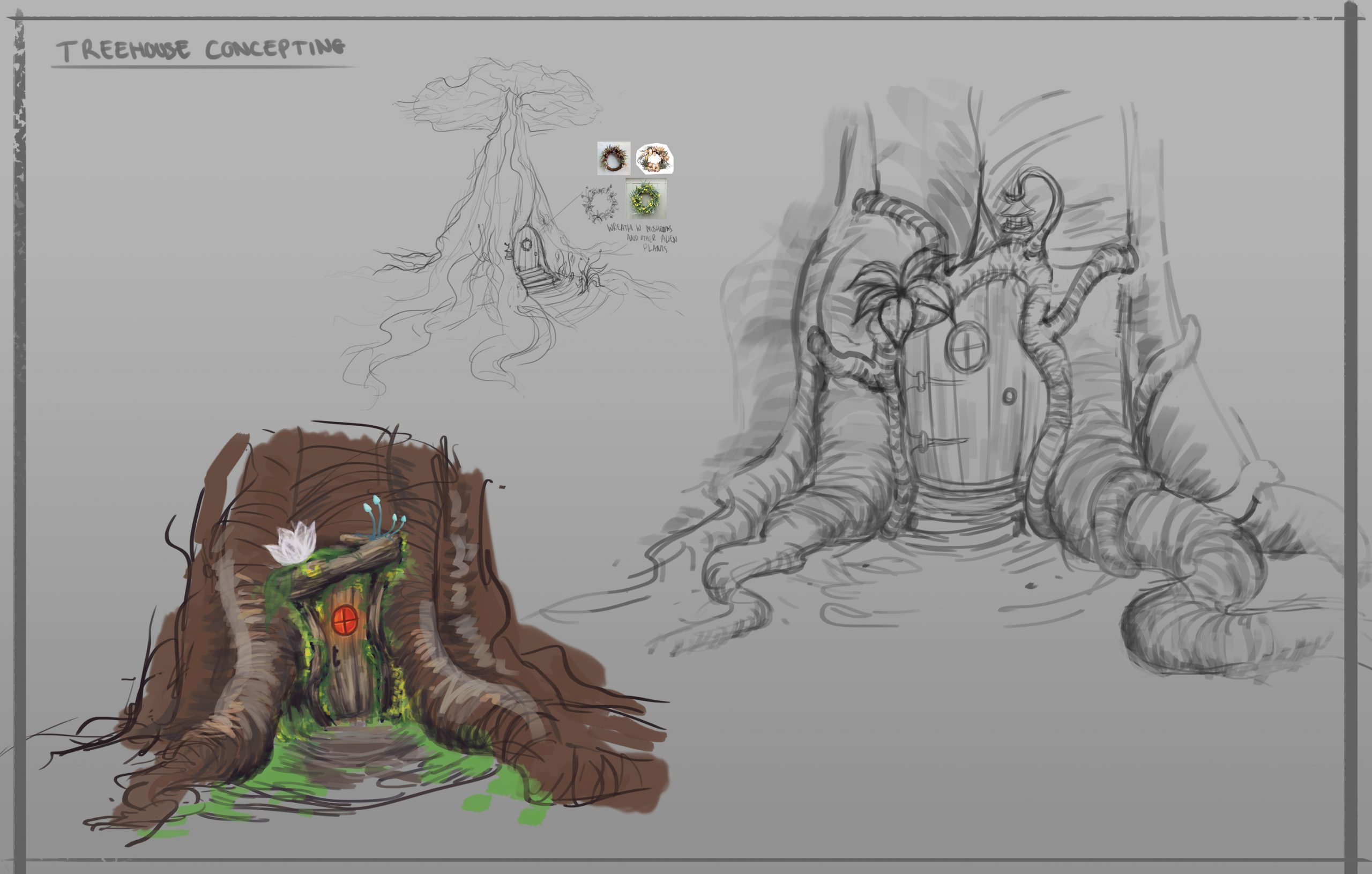 Alien Jungle Project - Concepting Image