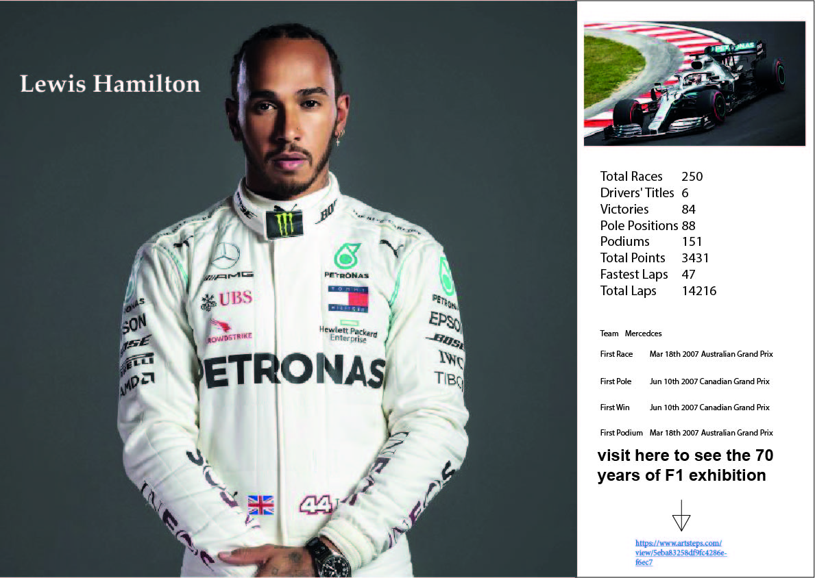 F1 Driver stat poster Image