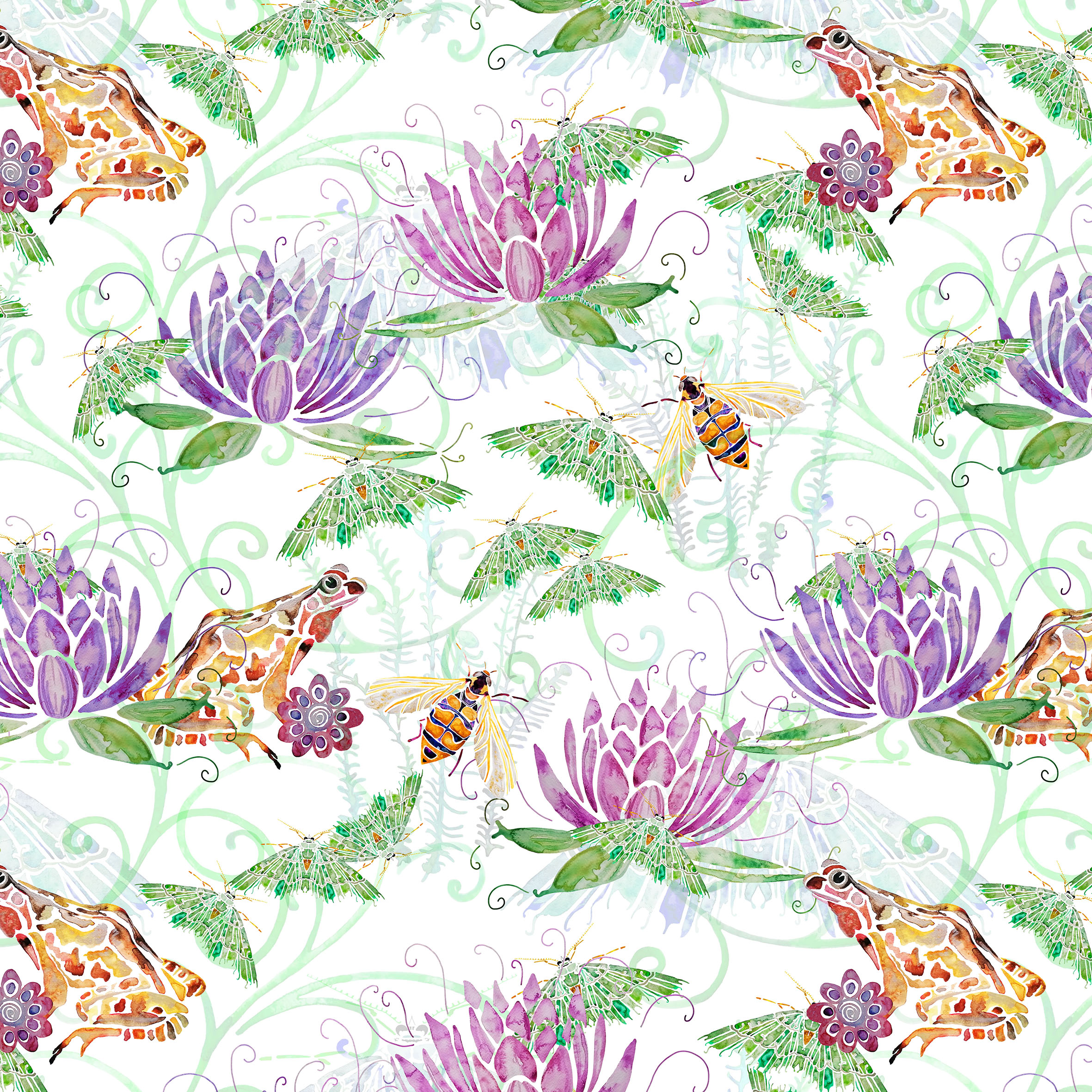 """""""Peaceful Lilies"""" Pattern Image"""