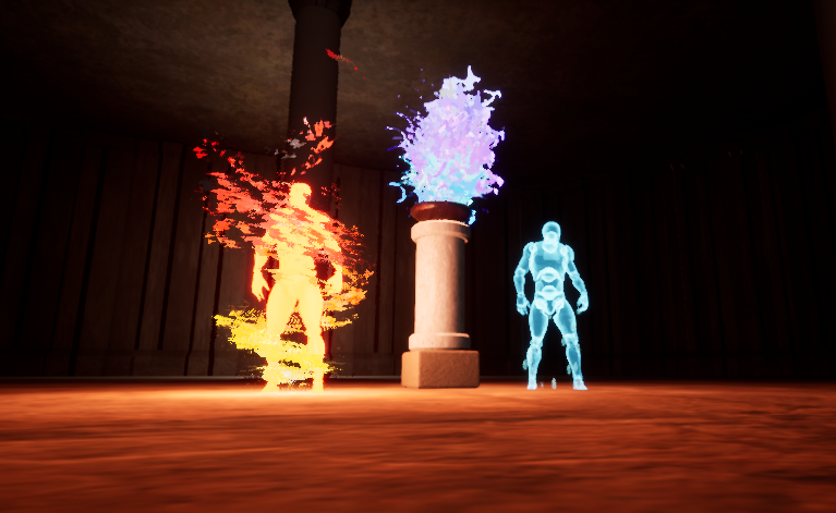 Lost Elements - Characters and Cursed Flame VFX Image