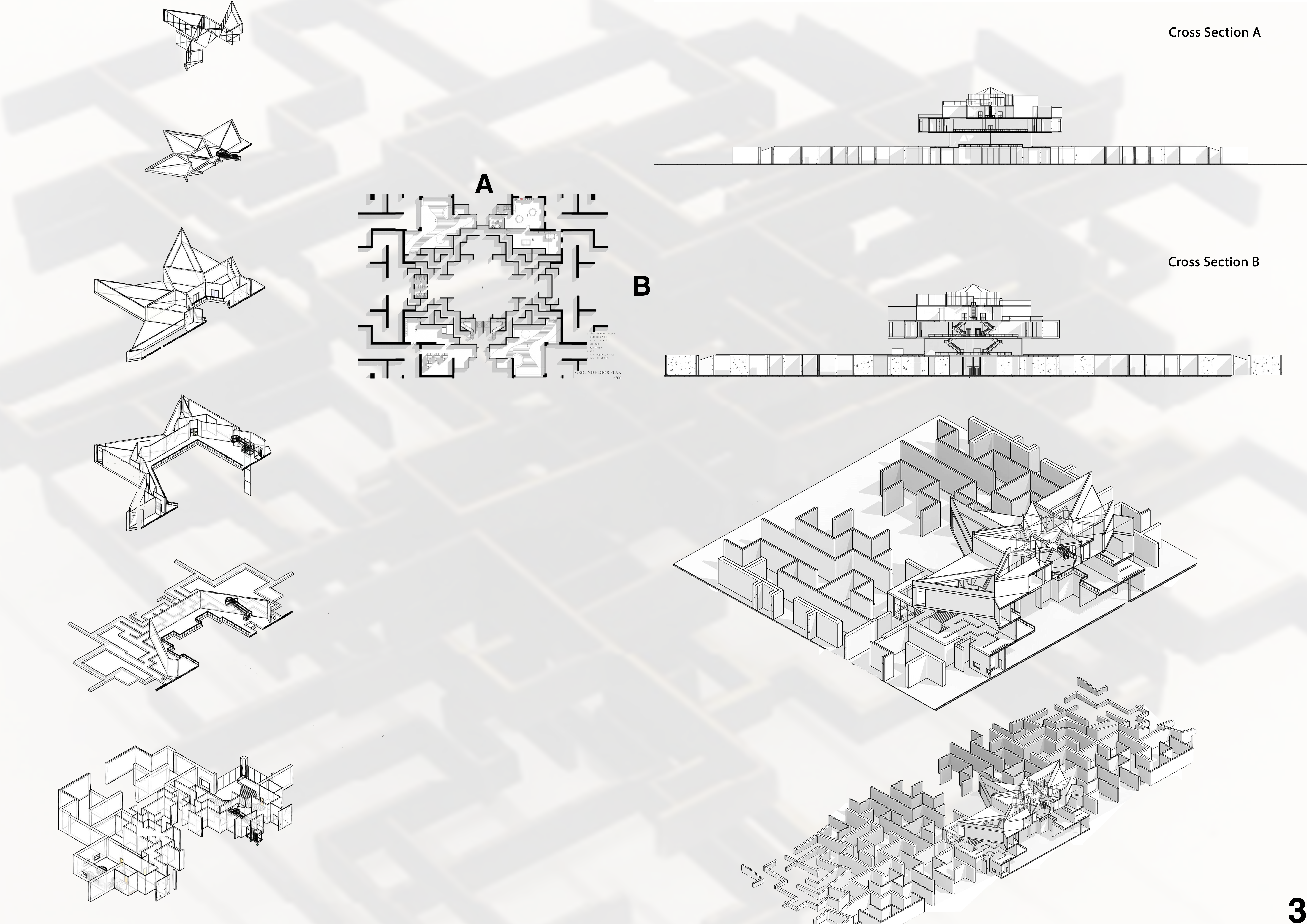 Cross-sections and Axonometric Image