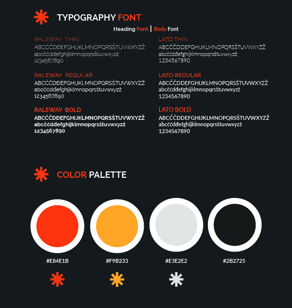 Typography and Color Palette Image
