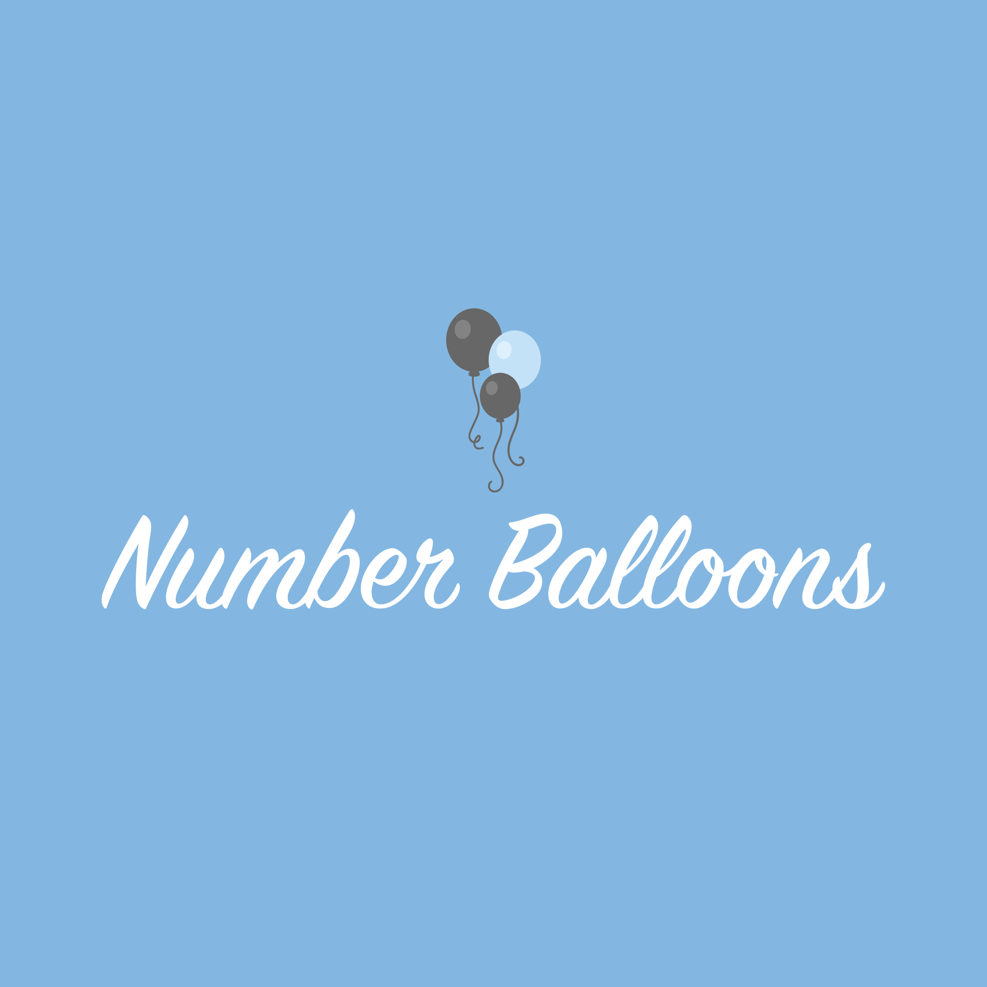 Instagram Story Cover - Number Balloons Image