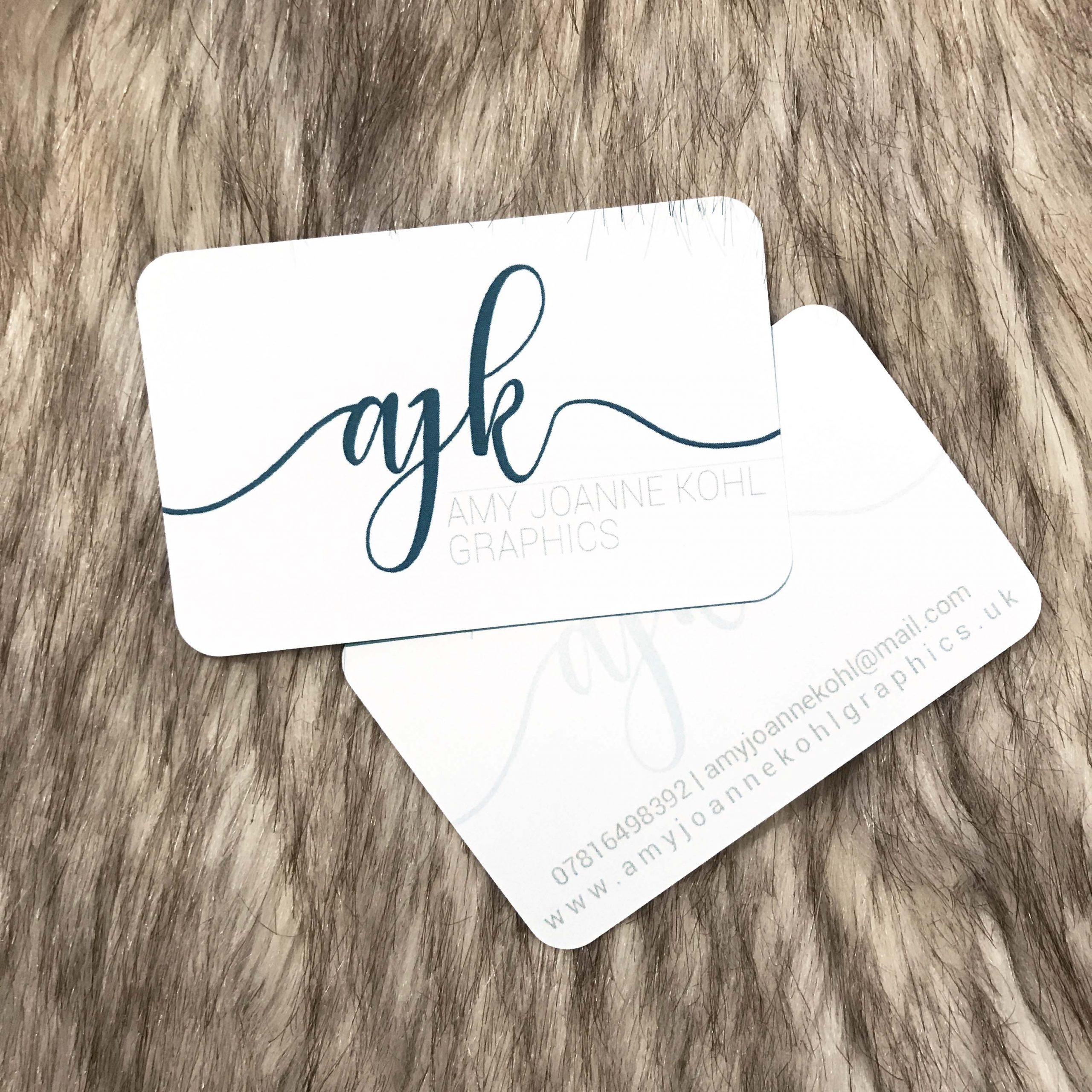Amy Joanne Kohl Graphics Business Cards Image
